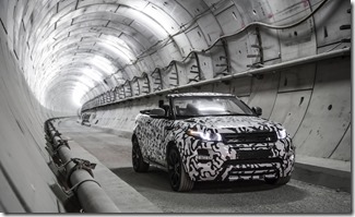 Range Rover Evoque Convertible at Crossrail (2)