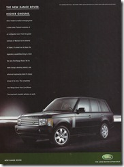 The new Range Rover.  Higher Ground.