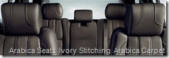 Arabica Seats  Ivory Stitching  Arabica Carpet