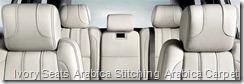 Ivory Seats  Arabica Stitching  Arabica Carpet