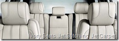 Ivory Seats  Jet Stitching  Jet Carpet