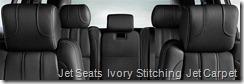 Jet Seats  Ivory Stitching  Jet Carpet
