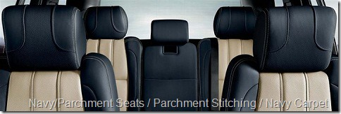 Navy-Parchment Seats-Parchment Stitching-Navy Carpet