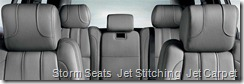 Storm Seats  Jet Stitching  Jet Carpet