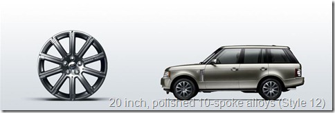 The Range Rover 20 inch, polished 10-spoke alloys (Style 12)
