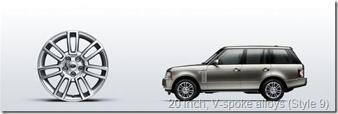 The Range Rover 20 inch, V-spoke alloys (Style 9)