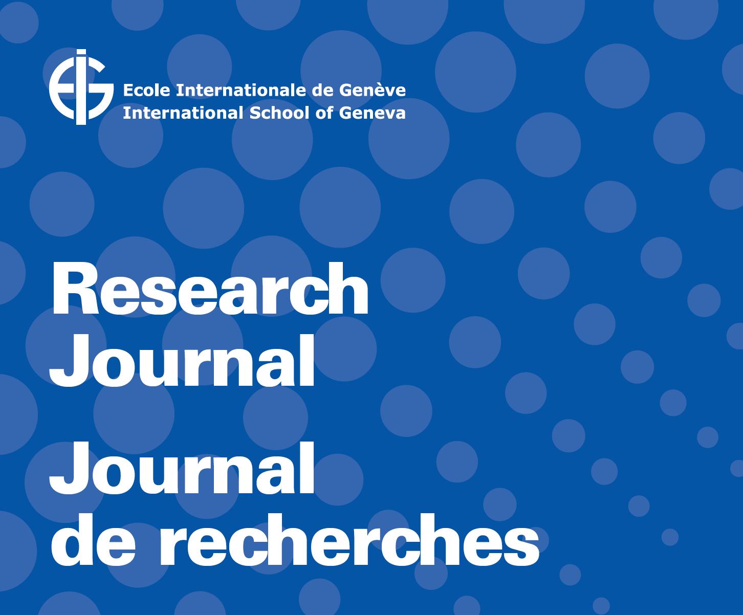 Journal de recherche 2018