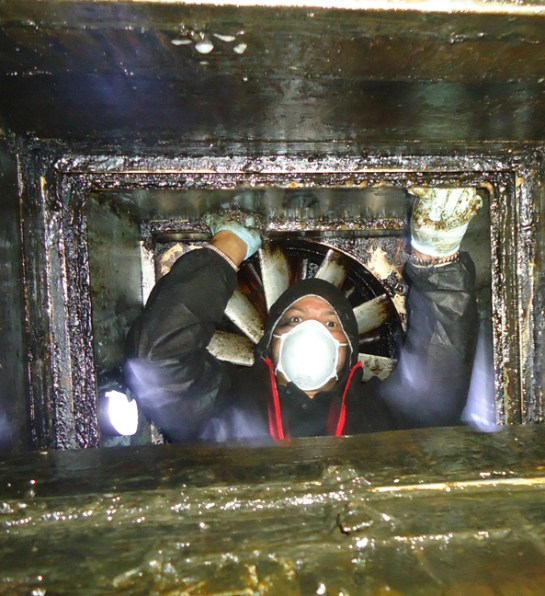 Extractor duct cleaning