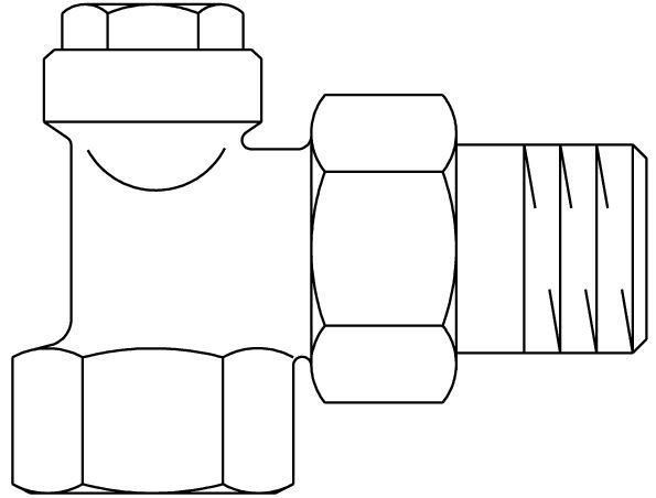 Radiator Lockshield Valve Combi 4 Dn 15 Pn 10 Angle