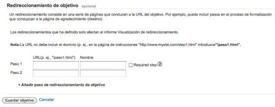 Redireccionamientos en Google Analytics