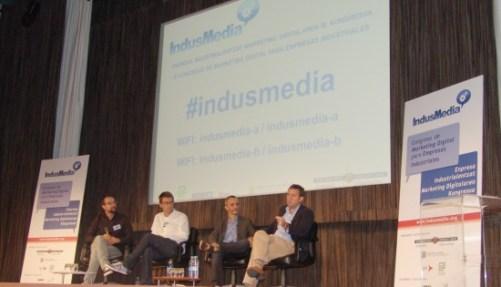 Mesa redonda en Indusmedia 2013 - congreso de marketing digital en el sector industrial