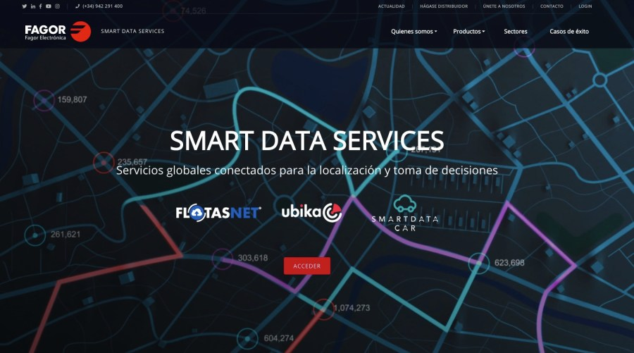 Nueva web de Fagor Smart Data