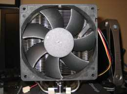 The Thermalright Venomous X CPU Cooler with the Scythe fan