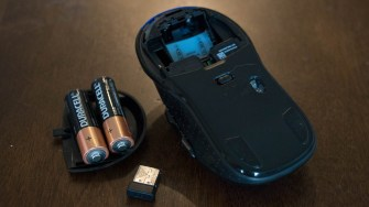 Batteries and USB wireless dongle removed