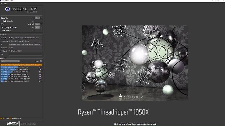 Ryzen Threadripper Cinebench