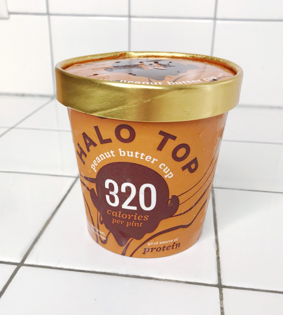 peanut butter cup halo top