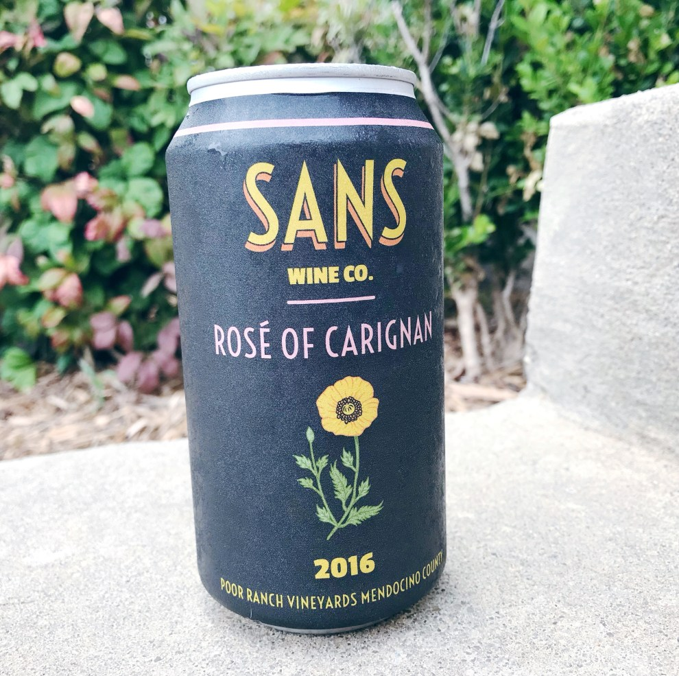 sans canned wine
