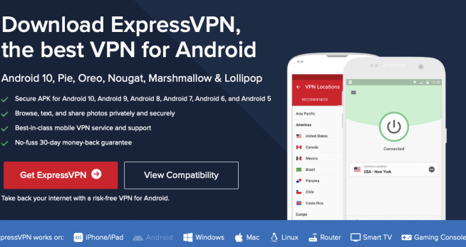 ExpressVPN Free Trial for Android