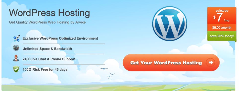 Arvixe Review wordpress hosting