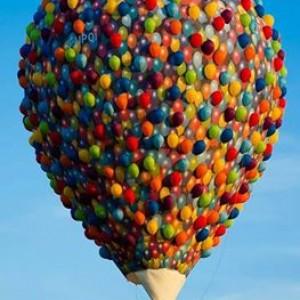Ballonnen met mand