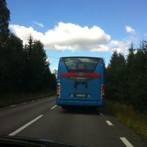 Blauwe bus Zweden