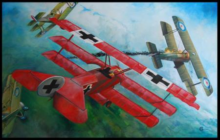 Red Baron Painting
