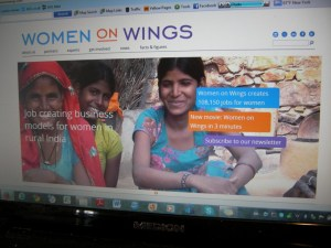 De website van Women on Wings