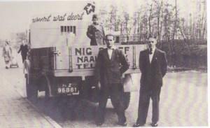 Een van de eerste vrachtwagens van Nic Sosef Weert wat deert