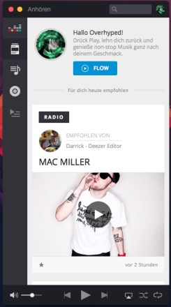 PC-/Mac-Version von Deezer