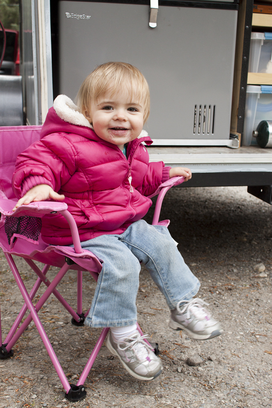 """Jr. sitting in her """"Pink Chair"""""""