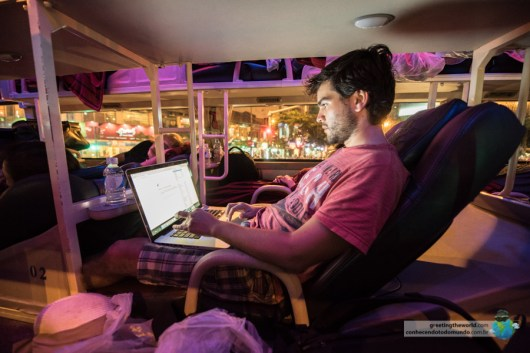 Working onboard a sleeper bus
