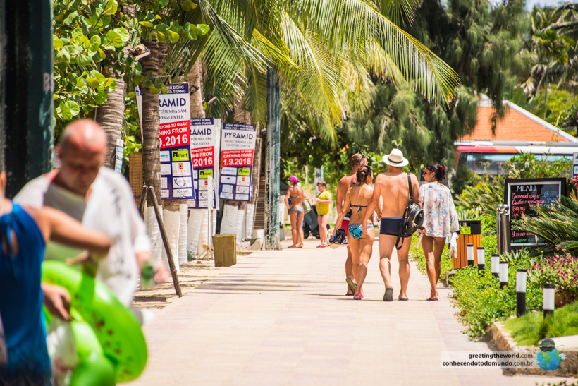 Tourists at Nha Trang, Vietnam