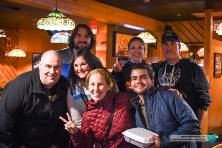 Dave, Mary e Chris nos trataram como amigos de longa data na nossa passagem por Niagara.
