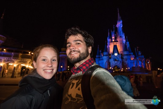 An enjoyable night at Disney's Magic Kingdom, Florida.