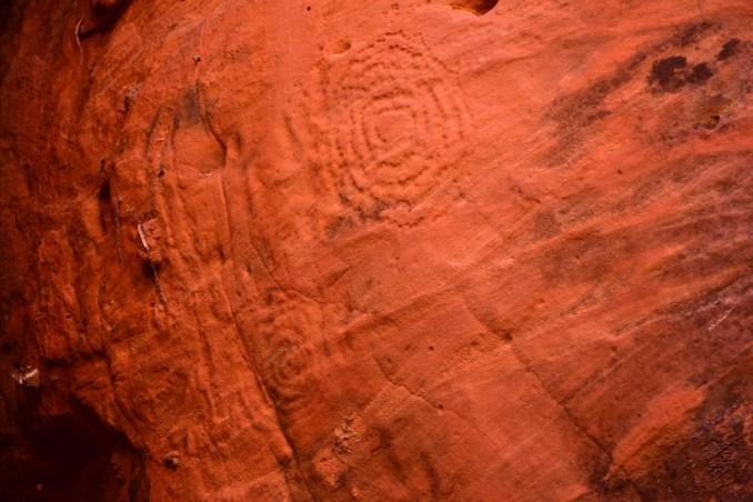 circles in sandstone
