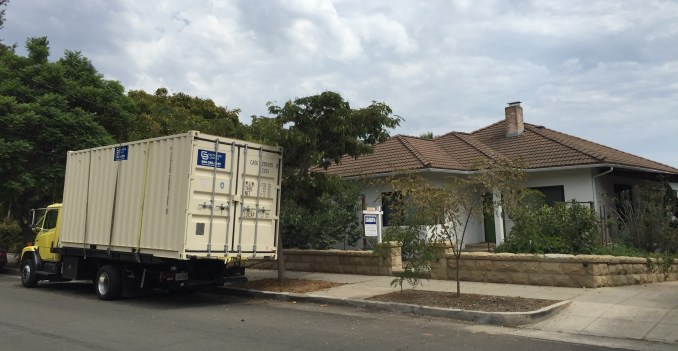 resized container and house