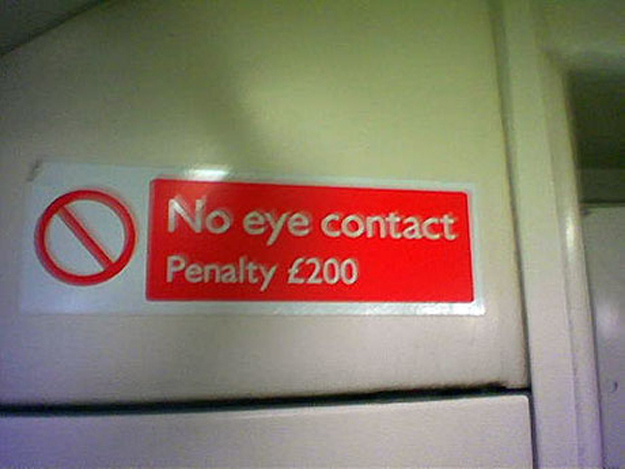 And after all that, the penalty for eye contact just isn't anywhere near high enough.