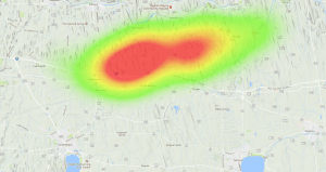OLHZN-7 Weather Balloon Flight Prediction #6 Heatmap