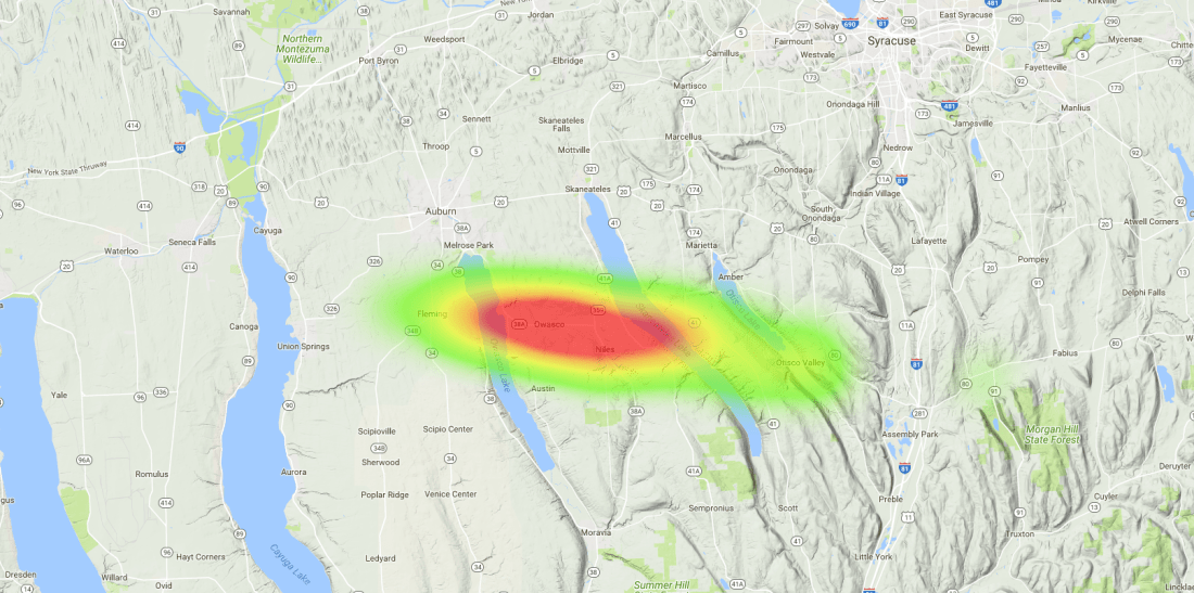 OLHZN-9 Weather Balloon Flight Prediction #8 Heat Map