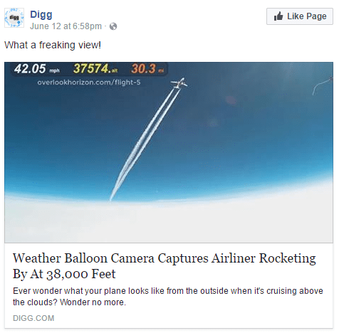 Weather Balloon Camera Captures Airliner Rocketing By At 38,000 Feet