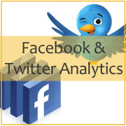 facebook and twitter analytics.fw