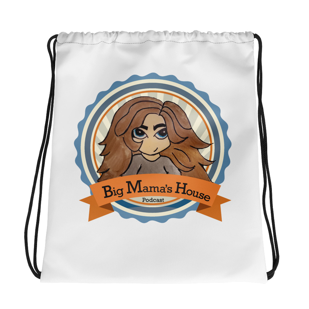 Drawstring bag – Big Mama's House Podcast Logo