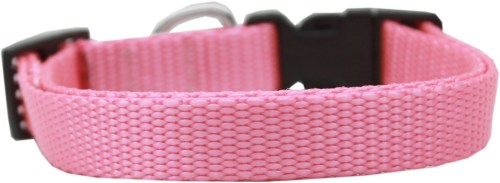 Light Pink Nylon Dog Collar