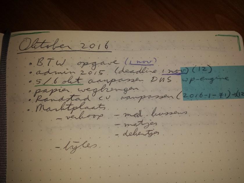 bullet-dagboek-maand
