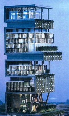 Antilla in Mumbai - Mukesh Ambani Billion Dollar Home