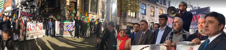 Kashmir Black day 27 October 2017 |Kashmir Council EU Protest in Front of Indian Embassy Bruseels Belgium on 27 October 2017