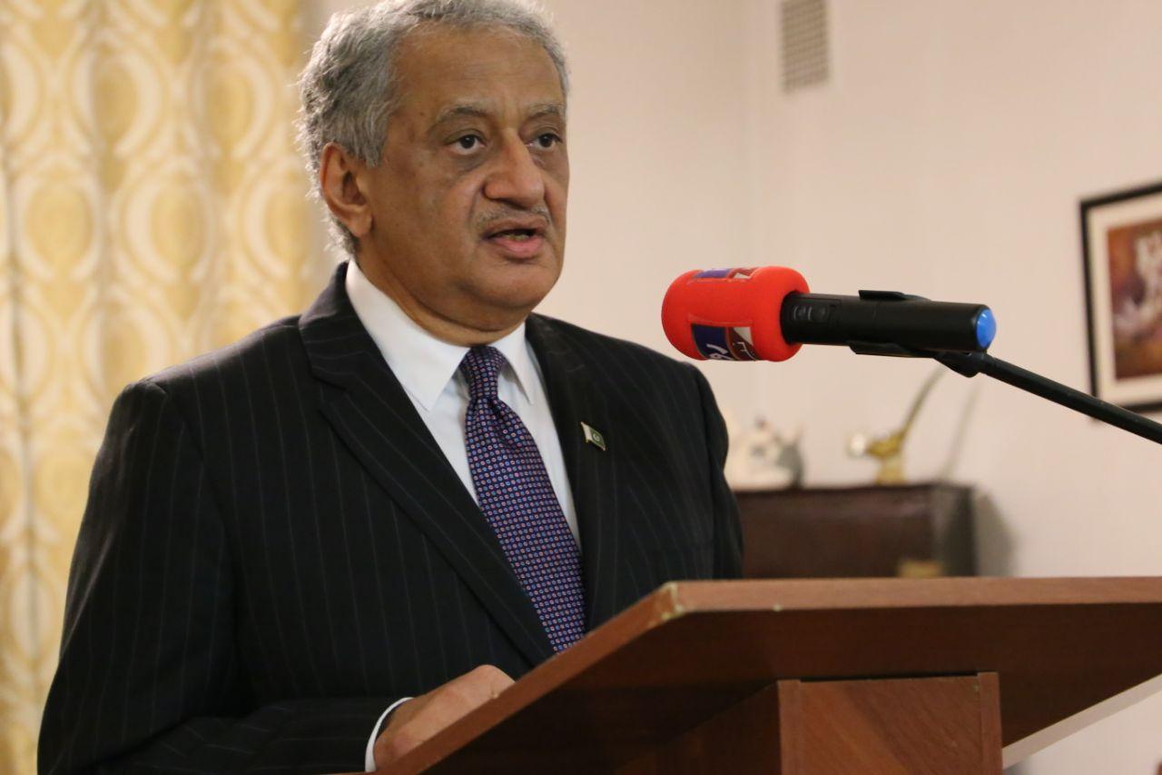 Pakistan's Ambassador to Russia Qazi Muhammad Khalil Ullah on Kashmir Black Day Protest in Pakistan Embassy Russia