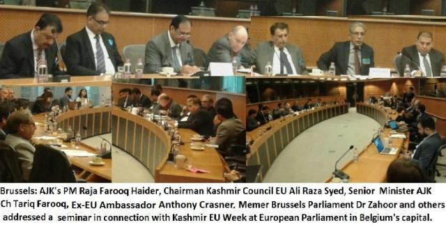 Raja Farooq Haider Khan| European Parliament | Seminar EU Week 2017 in Brussels Belgium