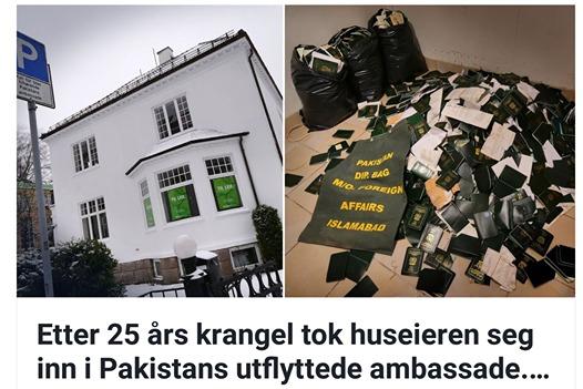 Pakistan Embassy Norway reaction on AftenPosten Story