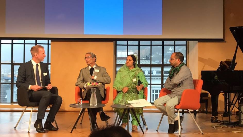 Pervez Imroz and Parveena Ahanger in Conference of Rafto Foundation Norway